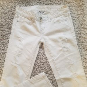 American Eagle 00 distressed skinny jeans